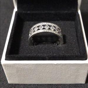 Authentic Pandora Fascination Ring Size 8.5 & Box